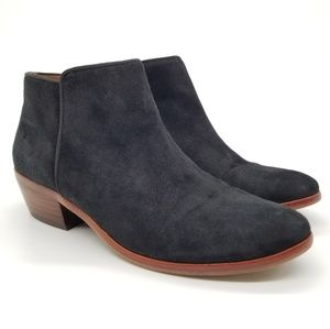 Sam Edelman Suede Petty Ankle Booties Black Sz 6